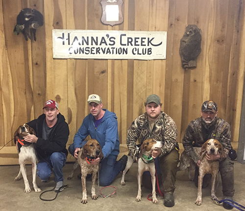 Hannah's Creek Conservation Club Super Slam Winners