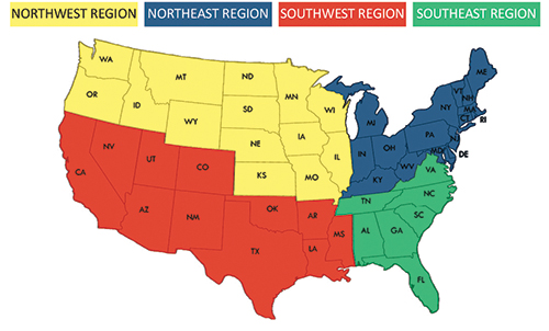 Purina Series Regional Map
