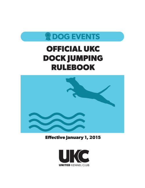 UKC Dock Jumping Rulebook