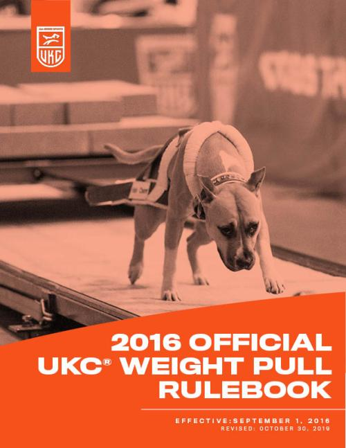 UKC Weight Pull Rulebook